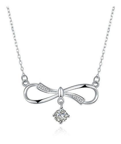 Collar Infinito Con Zirconias Plata S925 Regalo Amor Svn057