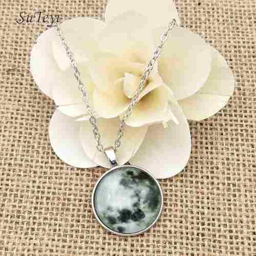 Collar Luna Llena Luminoso Envio Gratis