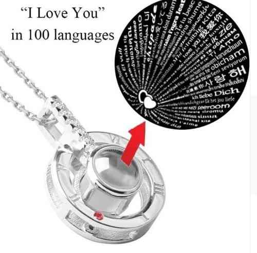 Collar Proyeccion Te Amo 100 Idiomas I Love You 100 Lenguage