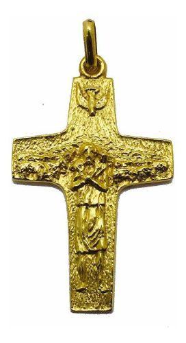 Cruz Oro 14k Buen Pastor # 880 Bautizó Comunión
