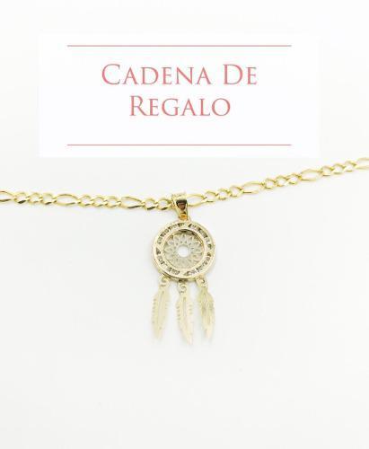 Dije Atrapasueños Oro 10k Y Cadena De Regalo