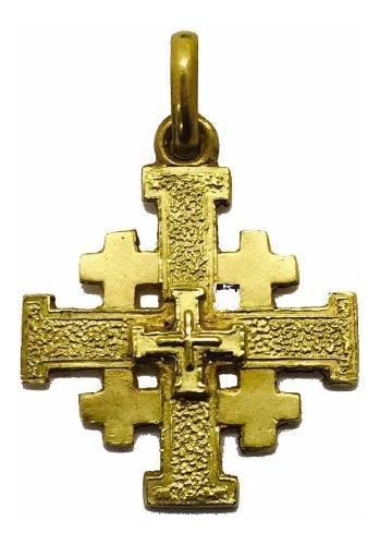 Dije Cruz Oro 10k Santo Sepulcro O Jerusalén #239
