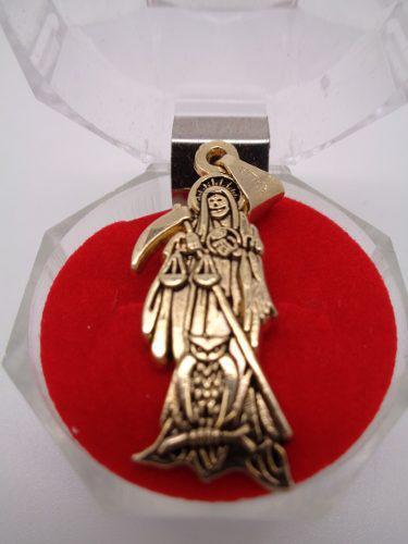 Dije De La Santa Muerte En Chapa De Oro De 18 K