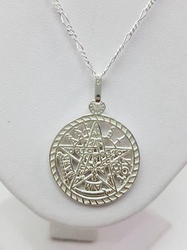 Dije De Tetragramaton Extgran Plata Ley.925 Con Cadena