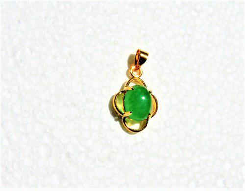 Dije Dorado De Piedra Natural: Jade Imperial