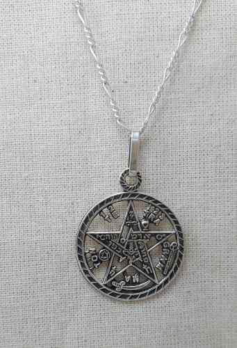 Dije Tetragramaton Plata.925 Incluye Cadena Paco.925