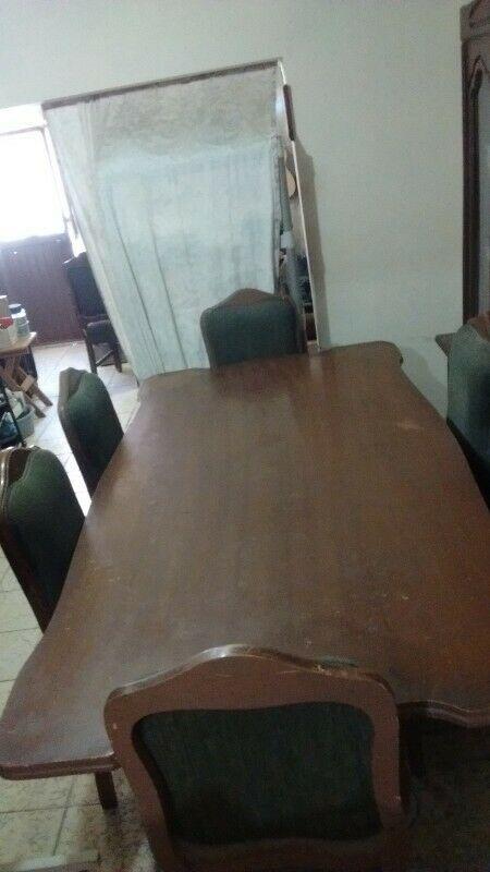 ENORME!!! COMEDOR de Madera 8 sillas, precio de , info,