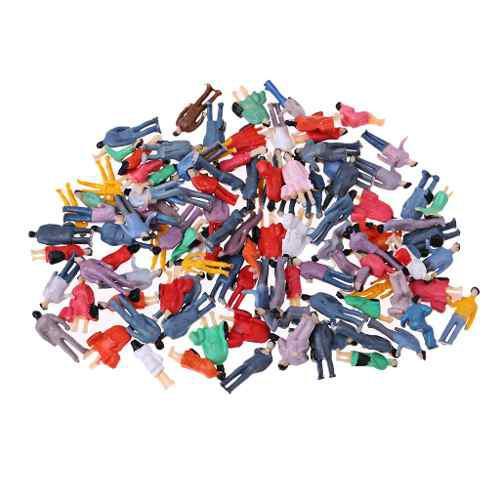 Figura De Acción De Ho Pintadas De Plástico 1/87 Escala P