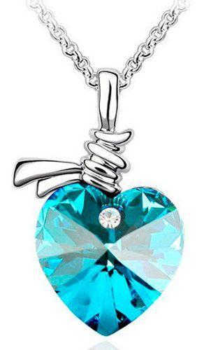 Genial Regalo Collar Corazón Amor Swarovski Element Colores