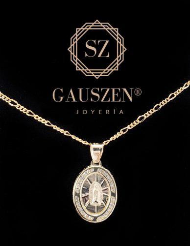 Hermosa Medalla Primera Comunión Virgen Oro 10k Y Cadena