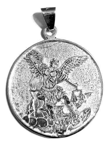 Hermosa Medalla San Miguel Arcángel 10gr & Cadena Plata 925