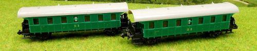 Lote De 2 Vagones Para Tren Kp Escala N
