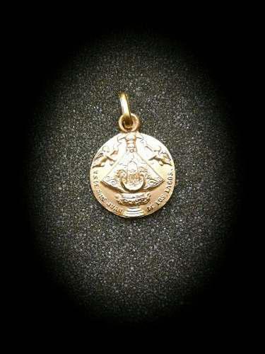 Medalla Oro 14k Virgen San Juan De Los Lagos #131