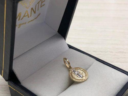 Medalla San Benito Mini Oro 10k Oro 100% Envio Gratis