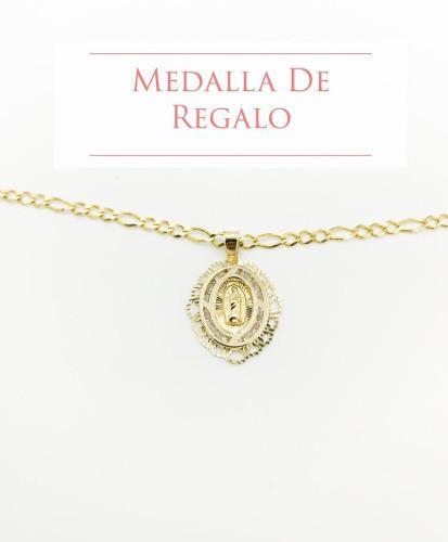 Medalla Virgen De Guadalupe Oro 10k.7gr + Cadena De Regalo
