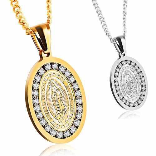 Medalla Virgen Guadalupe Regalo Mamá Plata Oro Swarovski