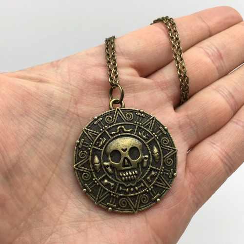 Medallón De Pirata Piratas Del Caribe Collar De Jack