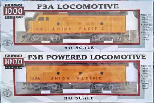 Oferta.- Set De Locomotoras F3a Y F3b De Up Escala Ho.