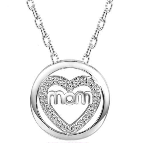 Regalo Collar Mamá Corazón Amor Eterno Ángel Swarovski