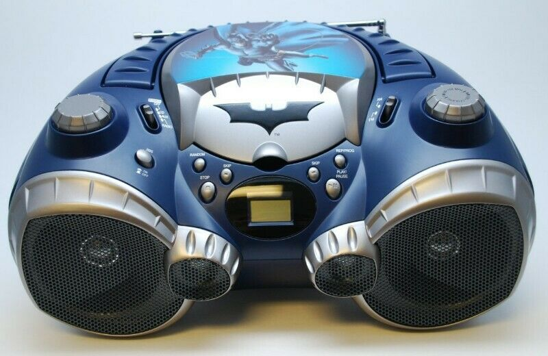 TOCADOR DE CD Y RADIO DE BATMAN., EN PERFECTAS CONDICIONES.,