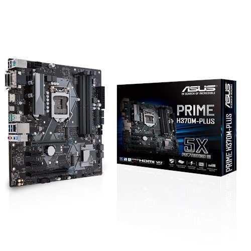 Tarjeta Madre Asus Prime H370m-plus Intel  Ddr4 Vga Dmi