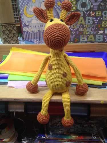 Amigurumi Jirafa Crochet Tejido A Mano 100% Algodón