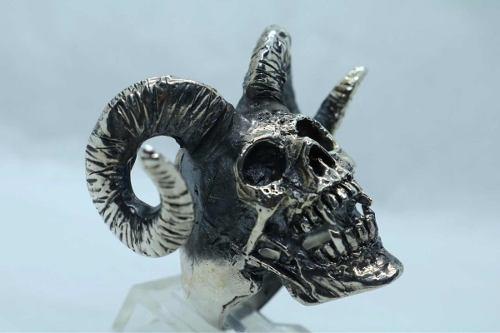 Anillo Calavera Skull Ring Devil Plata 925 Taller Kiss
