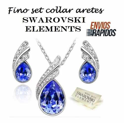 Aretes Collares Joyeria Swarovski Elements