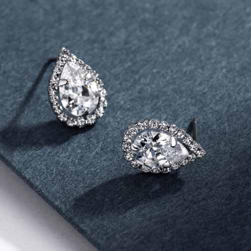 Aretes Imitación Diamante Piedra Gota De Agua