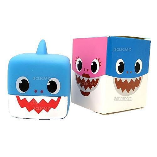 Baby Shark Azul Juguete Cubo Sumergibles Con Luz Bañera