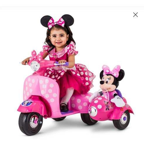 Carrito Electrico Con Canastilla Minnie Mouse 6 V Ride-on