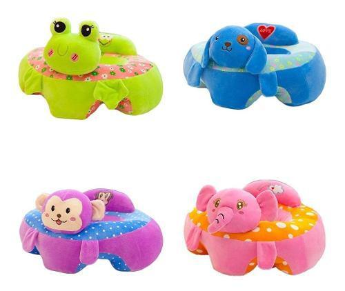 Cojín Asiento Para Bebé Niño Modelo Animalitos 2 Pz