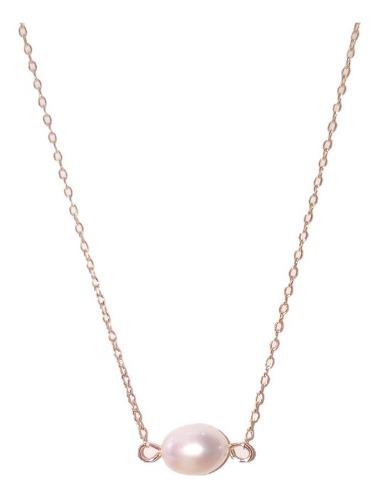 Collar, Aretes Y Pulsera Chapa Oro Perla Cultivada A018