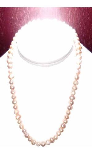 Collar Pulsera Y Aretes De Perlas Cultivadas Melón A062