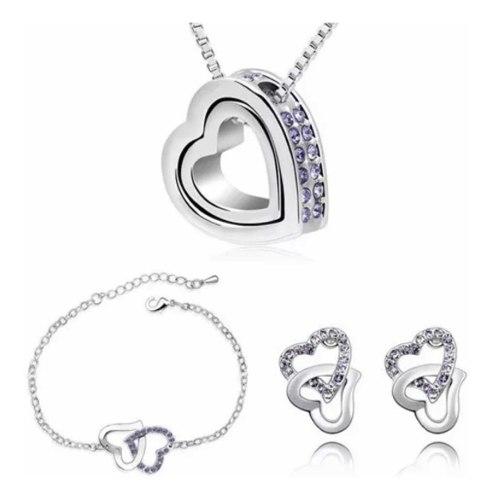 Corazón De Amor Set Joyería Swarovski Elements