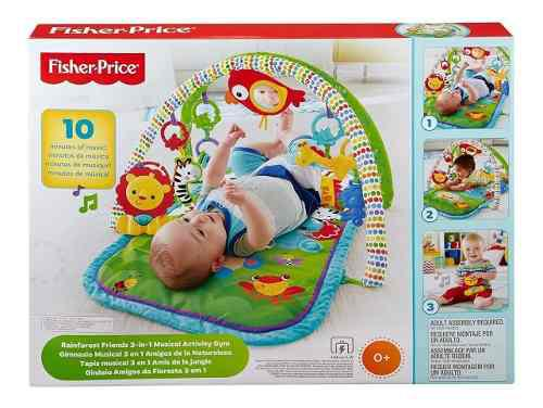 Fisher Price Gimnasio Musical 3 En 1 Amigos De La Naturaleza