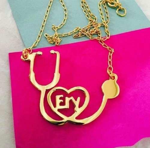 Joyería Doctor/regalo Para Doctor/collar Estetos Con Nombre