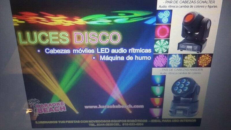 Rentamos luces LED cabezas móviles para tu fiesta