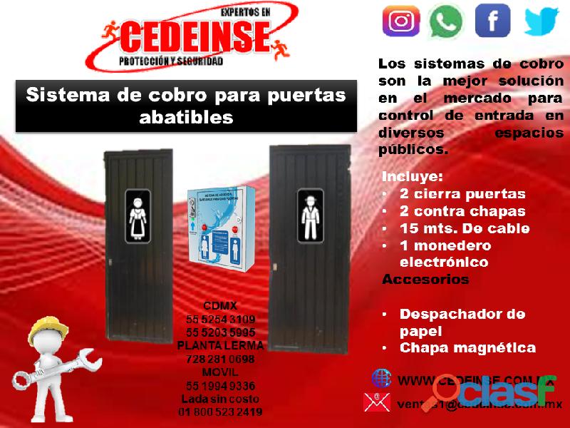 SISTEMA DE COBRO PARA 2 PUERTAS ABATIBLES CEDEINSE