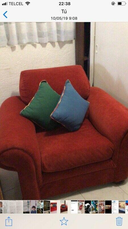 Sala de Dos piezas,sofá cama Dos plazas y sofá de una