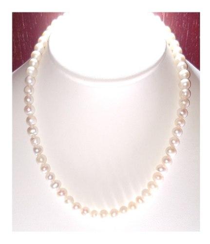 Set Collar Con Broche En Plata 925 Perla Cultivadas A033