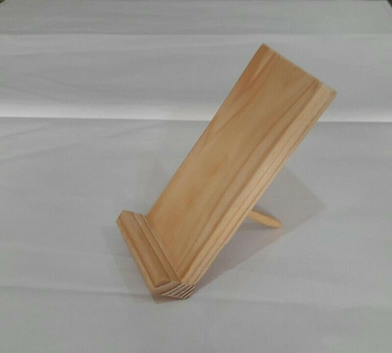 Soporte de madera de pino para Celular