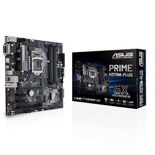 Tarjeta Madre Asus Prime H370m-plus Intel 1151 Ddr4 Vga Dmi