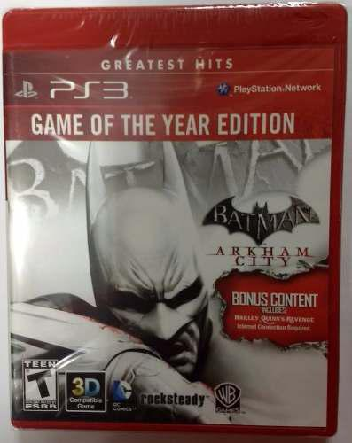 Batman: Arkham City Game Of The Year Edition Ps3