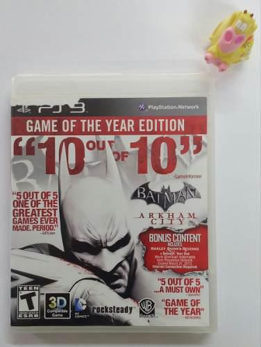 Batman Arkham City Goty Ps3 Play Station 3 Garantizado.