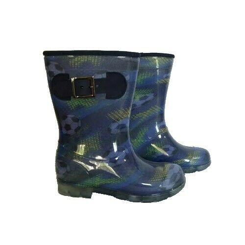 Botas de lluvia azul niño