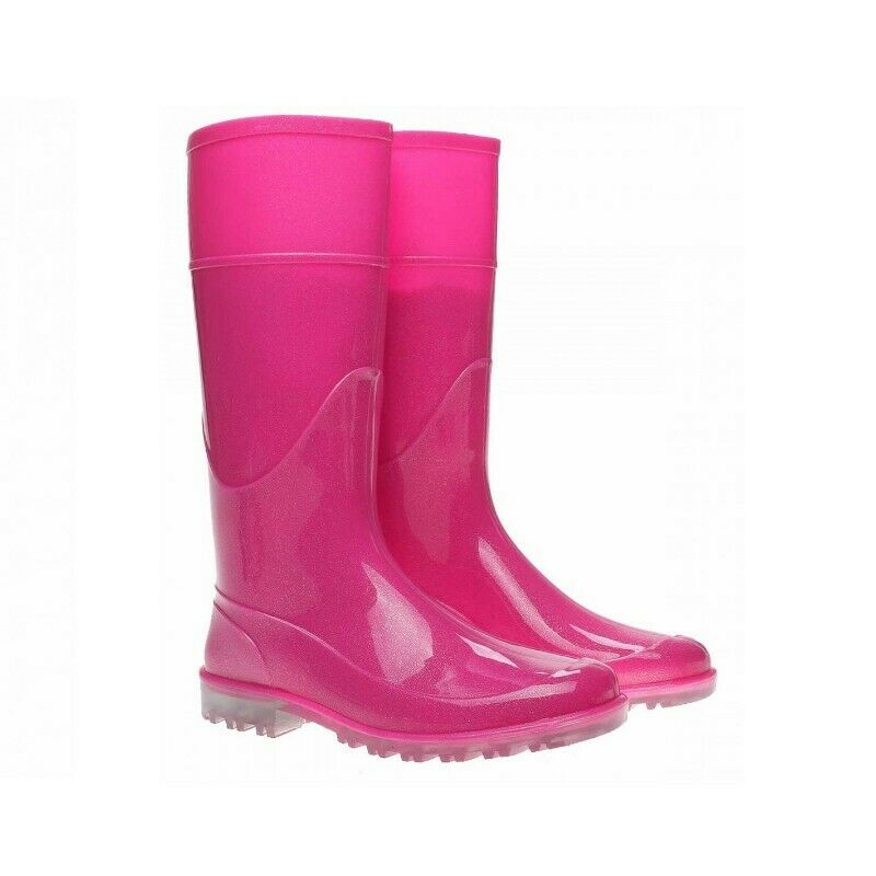 Botas de lluvia rosa