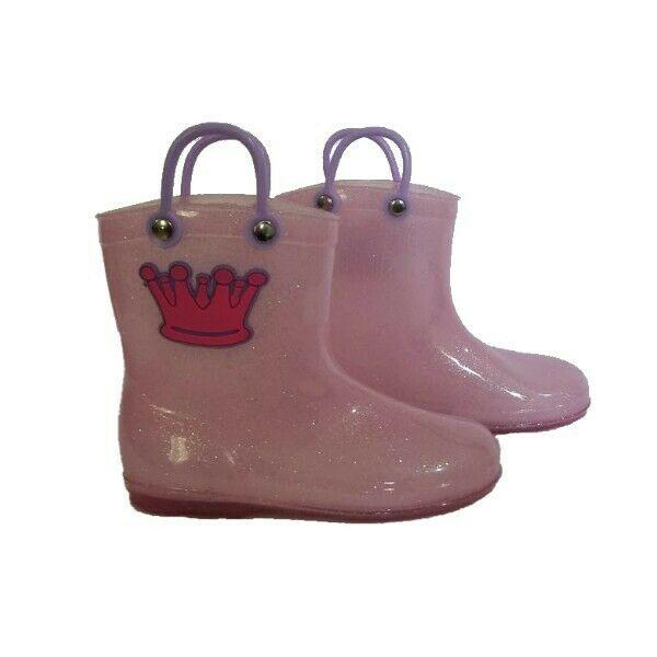 Botas para lluvia rosa princesa niña