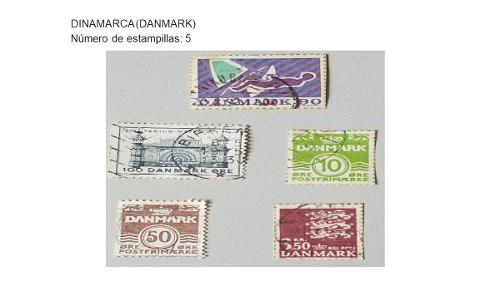 Colección De 5 Estampillas Dinamarca