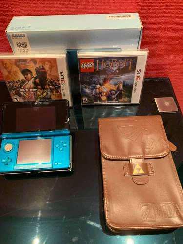 Consola Nintendo 3ds Con Juegos Y Funda